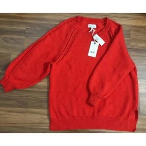Lucky Brand Women's Orange Sweater, Size Large